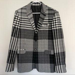 Black and White Plaid Blazer from Paris